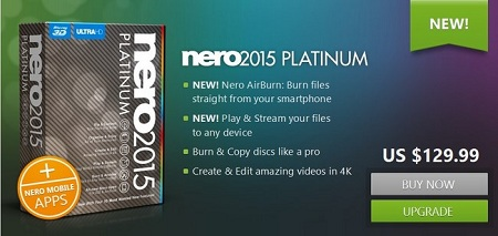 Nero 2015 Platinum 16.0.04300 Multilingual + Retail