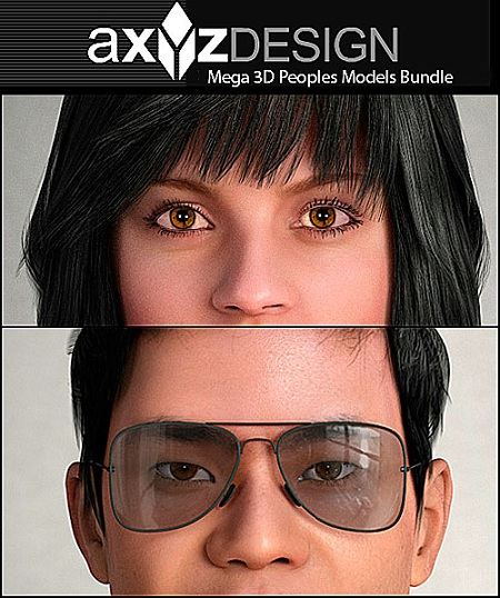 AXYZ Design: Mega 3D Peoples Models Bundle