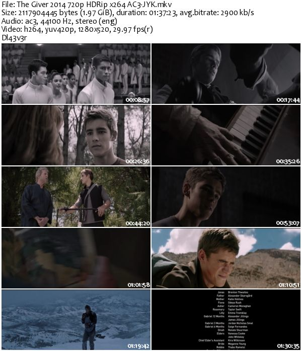 The Giver (2014) 720p HDRip x264 AC3-JYK