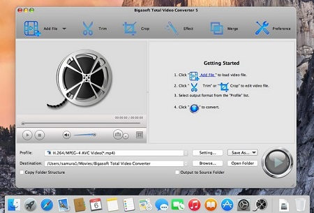 Bigasoft Total Video Converter for Mac 5.0.9.5854