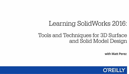 Learning SolidWorks 2016 Training Video