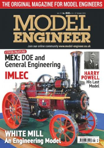 Model Engineer - 14 October 2016