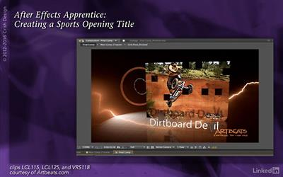 After Effects Apprentice 15: Creating a Sports Opening Title (updated Nov 11, 2016)