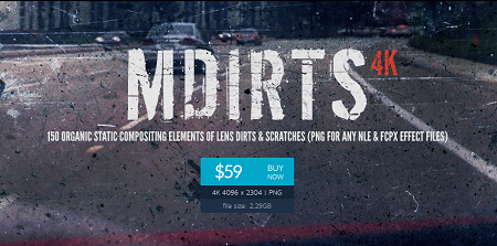 MotionVfx : mDirts - 150 4K Scratch and Dirt Elements for Final Cut Pro X
