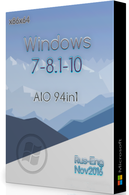 Windows 7 8.1 10 AIO (x86x64) 94in1 Nov 2016