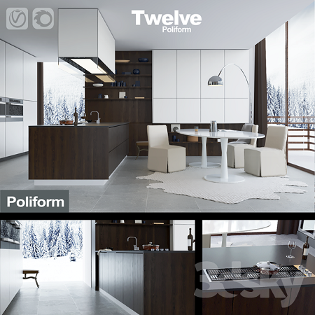 3DSky - Kitchen Poliform Varenna Twelve (vray + corona)