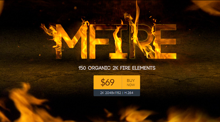 motionVFX: mFire - 150 Organic Fire Elements for Any NLE
