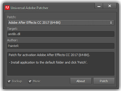 Universal Adobe Patcher 2.0 by PainteR