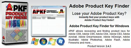 APKF Adobe Product Key Finder 2.5.1.0