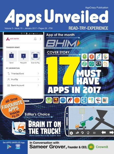 Apps Unveiled - January 2017