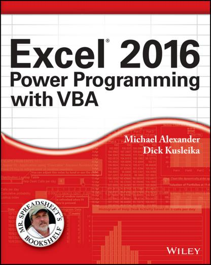 Michael Alexander - Excel 2016 Power Programming with VBA