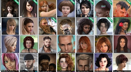DAZ Hair Collection for V4, G2 & G3