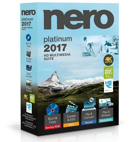 Nero 2017 Platinum v18.0.08400 Multilingual + Content Pack + Crack