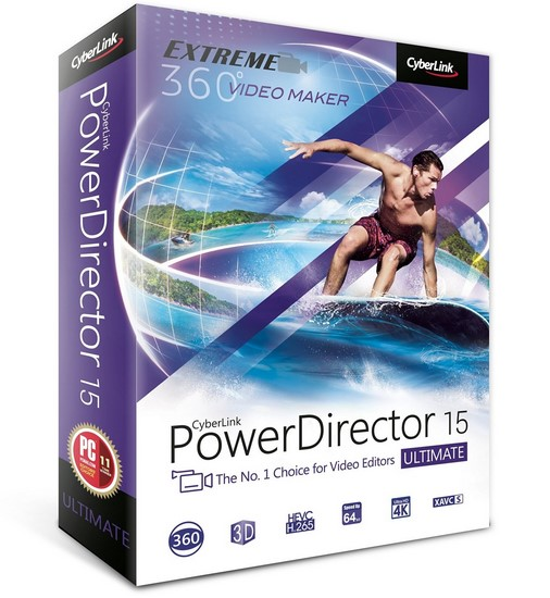 CyberLink PowerDirector Ultimate 15.0.2820.0 Multilingual