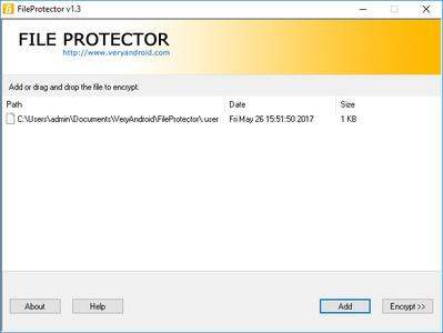 VeryAndroid File Protector 1.3