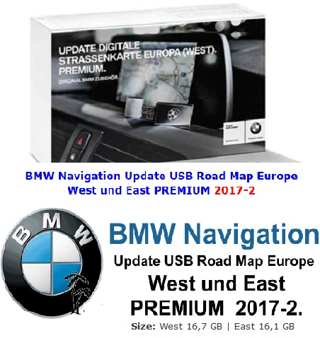 BMW Navigation Update USB Road Map Europe West and East PREMIUM 2017-2