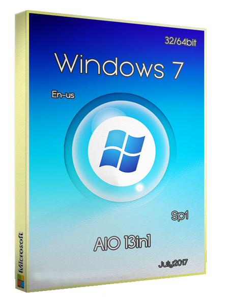 Windows 7 Sp1 AIO (x86/x64) 13in1 July2017